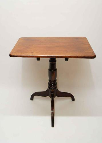 Early Victorian Tilt Top, Mahogany Rectangular Occasional or Wine Table (1 of 11)