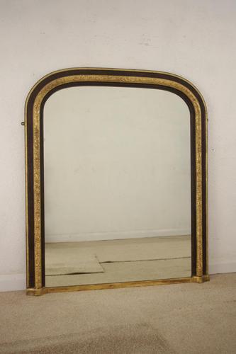 Victorian Walnut & Gilt Arch Top Overmantle Mirror (1 of 9)