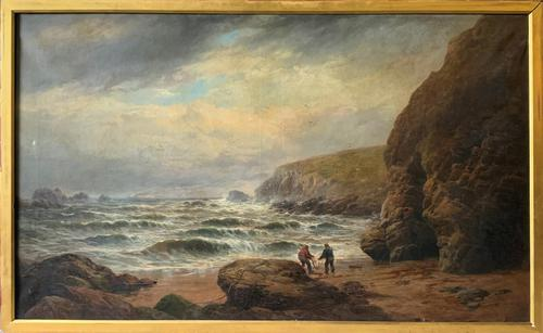 Gigantic George Henry Jenkins  19th Century Seascape Oil Painting (1 of 12)
