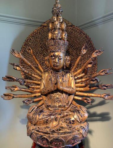 Magnificent Quan Am 'Guanyin' - Antique Carving (1 of 6)