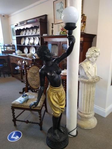 Pair of Bronze Blackamoor Lamps (1 of 9)