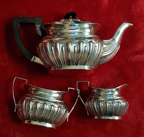 Antique Sterling Silver Bachelor Tea Set (1 of 3)
