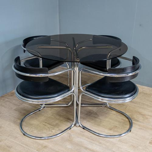 Glass & Chrome Dining Set (1 of 10)