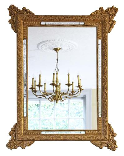 Antique Large Quality 19th Century Italian Gilt Wall Mirror Overmantle (1 of 8)