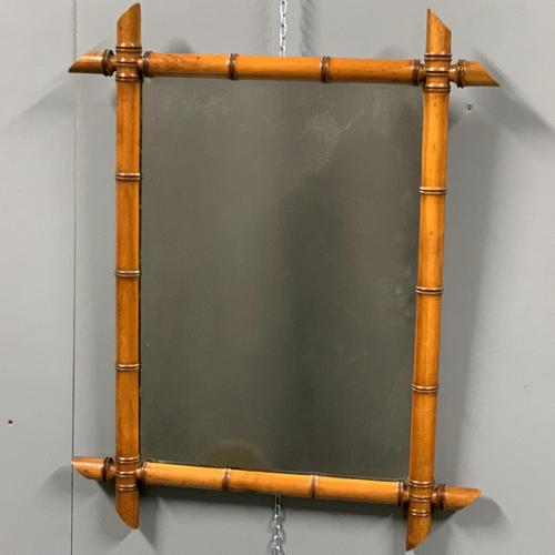 French faux bamboo mirror with foxing (1 of 4)