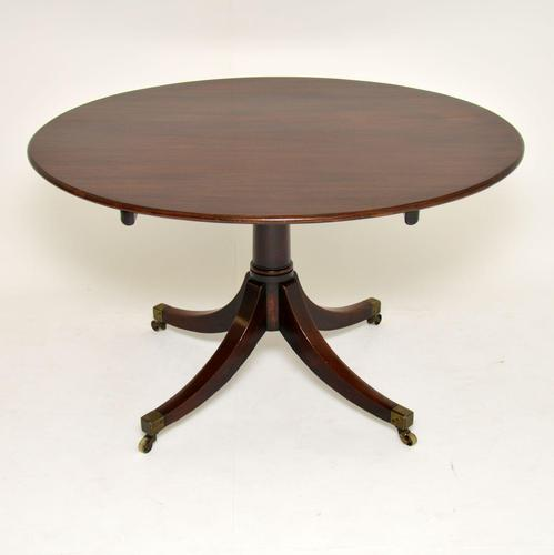 Antique Georgian Mahogany Tilt Top Dining Table (1 of 10)
