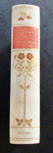 1910 Poems of Alfred Lord Tennyson, Fine Art Nouveau Vellum Binding (1 of 4)
