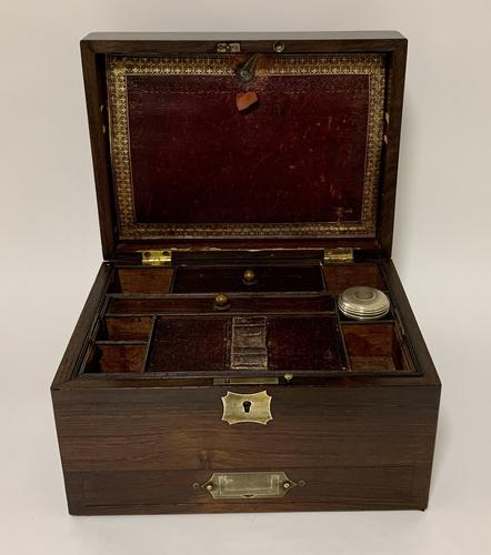 Antique Victorian Rosewood Vanity Jewellery Box (1 of 16)