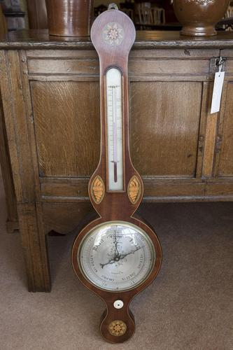 Mercurial Barometer with Satinwood Inlay (1 of 4)