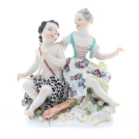 Meissen Porcelain Group of Two Young Figures (1 of 6)