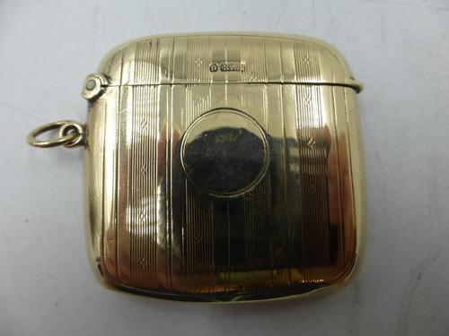 Antique 9ct Gold Vesta Case Birmingham 1911 (1 of 6)