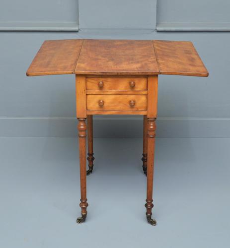 Regency Satinwood Pembroke Work Lamp  Side Table (1 of 11)