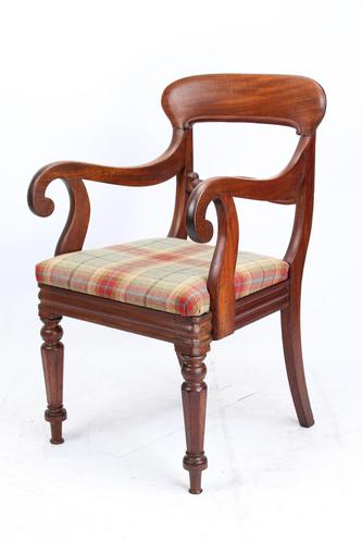 Victorian Mahogany Desk Chair / Open Armchair (1 of 13)