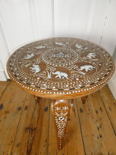 Mid 20th century Round Indian Table (1 of 5)
