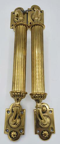 Good Quality Pair of 19th Century Brass Door Pulls or Handles (1 of 3)