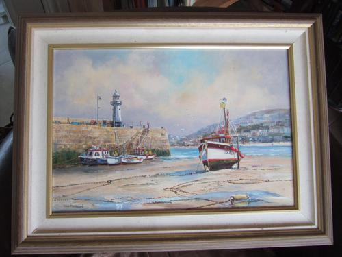 Wyn Appleford Oil on Canvas of St Ives Harbour, Cornwall (1 of 5)