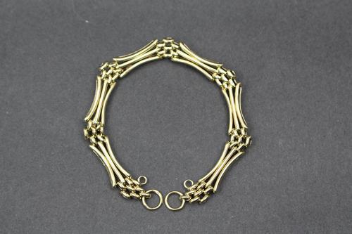 9ct Gold Gate Link Bracelet (1 of 4)
