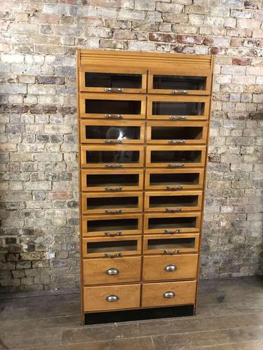 Art Deco 1920s Haberdashery Cabinet (1 of 4)
