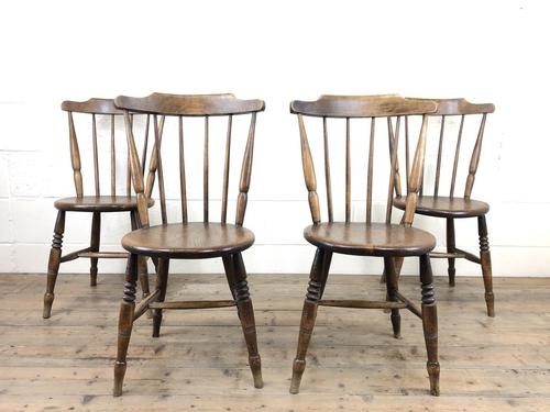 Set of Four Victorian Elm Penny Chairs (M-1317) (1 of 11)
