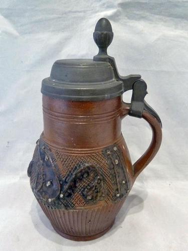 Superb Rare, German Saltglaze Stein / Krug- Possibly Cologne 17th Century (1 of 9)