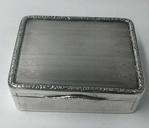 Superb Silver George III Large Table Snuff Tobacco Box William Seaman 1805 (1 of 8)