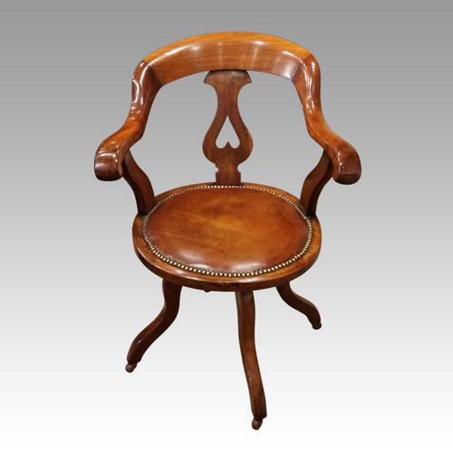 Victorian Mahogany Revolving Desk Chair (1 of 5)
