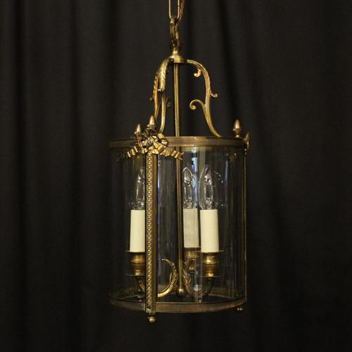 French Gilded Bronze Triple Light Lantern (1 of 10)