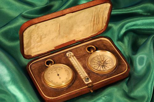 Victorian Pocket Barometer Travel Compendium c1890 (1 of 12)