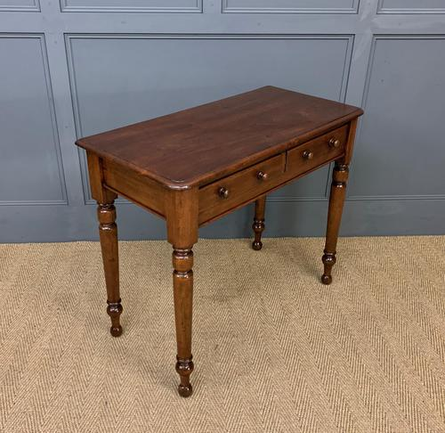 Victorian Mahogany 2 Drawer Side Table (1 of 12)