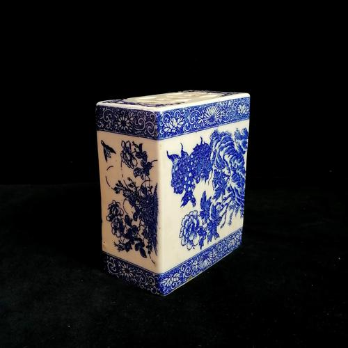 Antique Qing Dynasty Chinese Blue & White Opium Pillow (1 of 7)