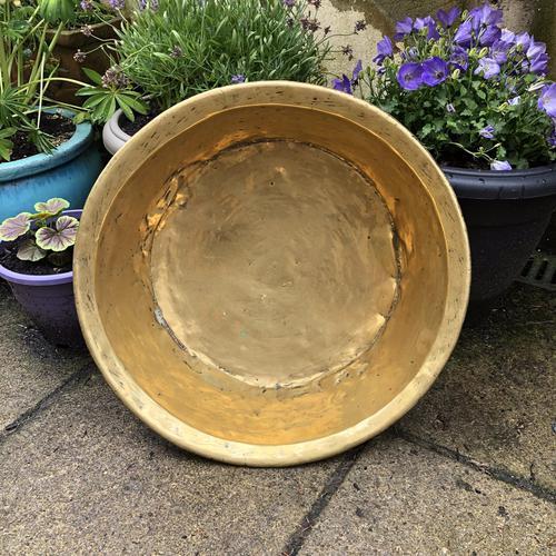 18th Century Brass Cream Pan - Log Bin (1 of 7)