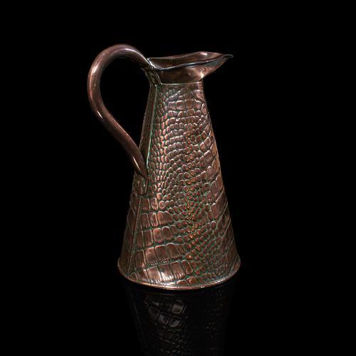 Antique Serving Ewer, English, Copper, Jug, Decorative, Arts & Crafts, Victorian (1 of 12)