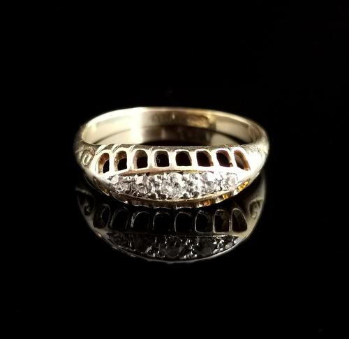Antique Diamond Five Stone Ring, 18ct Gold, Edwardian (1 of 12)