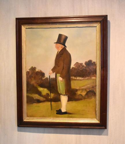 English Naive Oil  Painting of Gentleman (1 of 7)
