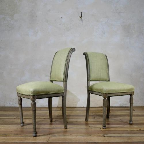Pair of French Painted Louis XVI Style Side Chairs (1 of 12)