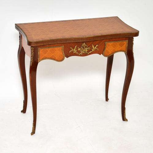 Antique French Inlaid Parquetry Card Table (1 of 12)