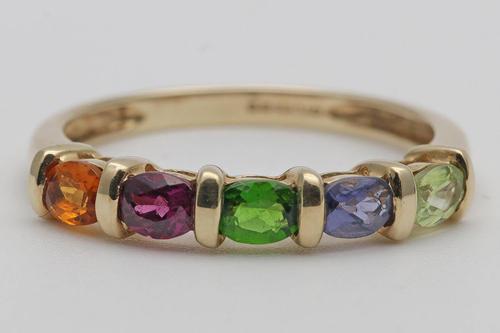9ct Gold Multi-gem Ring (1 of 3)