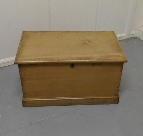 Victorian Original Shabby Painted Pine Blanket Box (1 of 5)