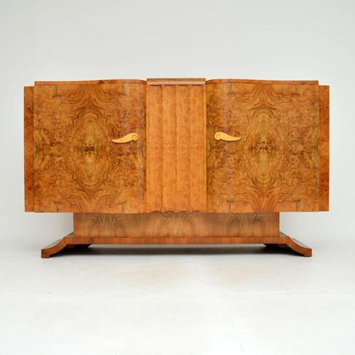 1930's Art Deco Burr Walnut Sideboard by Hille (1 of 12)