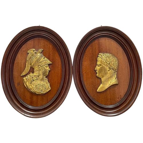 Pair of Interesting 19th Century Gilded Bronze Alexander The Great & Napoleon Cameo Plaques (1 of 29)