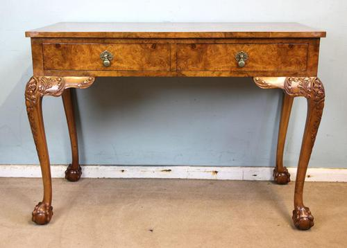 Antique Fine Quality Queen Anne Style Burr Walnut Side / Centre Table (1 of 8)