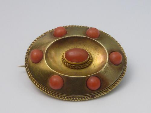 15ct Gold & Coral Brooch (1 of 6)