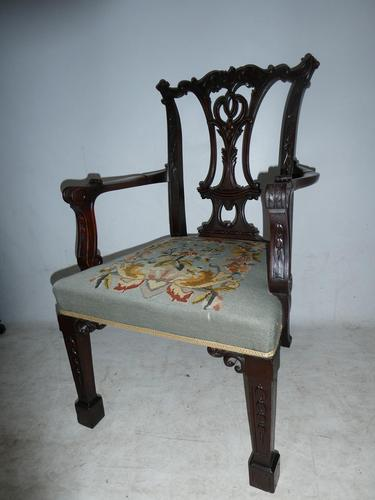 Carved Chippendale Revival Armchair (1 of 10)
