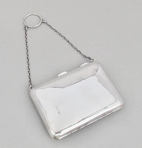 George V Silver Silver Card Case & Aide Memoire by Nathan & Hayes, Chester 1911 (1 of 3)