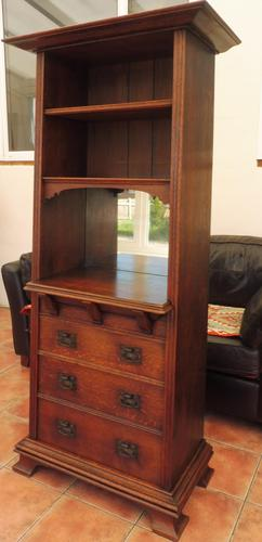 Arts & Crafts Liberty and Co Bookcase 1900 (1 of 10)