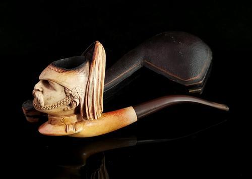 Antique Meerschaum Pipe, Prussian Soldier (1 of 14)