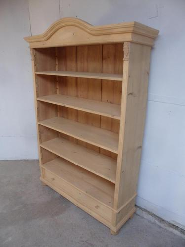 Wonderful Antique Pine Adjustable Bookshelf / Office Shelves to wax / paint (1 of 9)