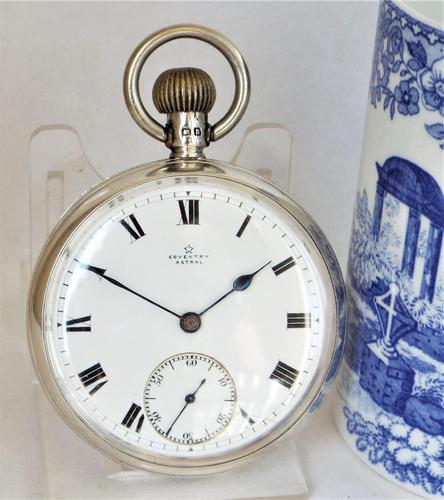 1912 silver Coventry Astral pocket watch from H Williamson (1 of 5)