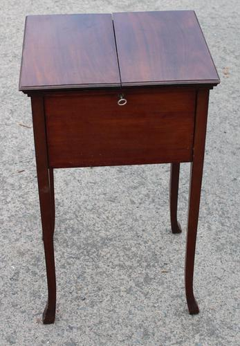 1900s Mahogany Sewing Cabinet Table (1 of 4)