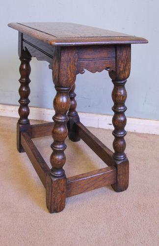Antique Oak Stool Joint Stool (1 of 5)